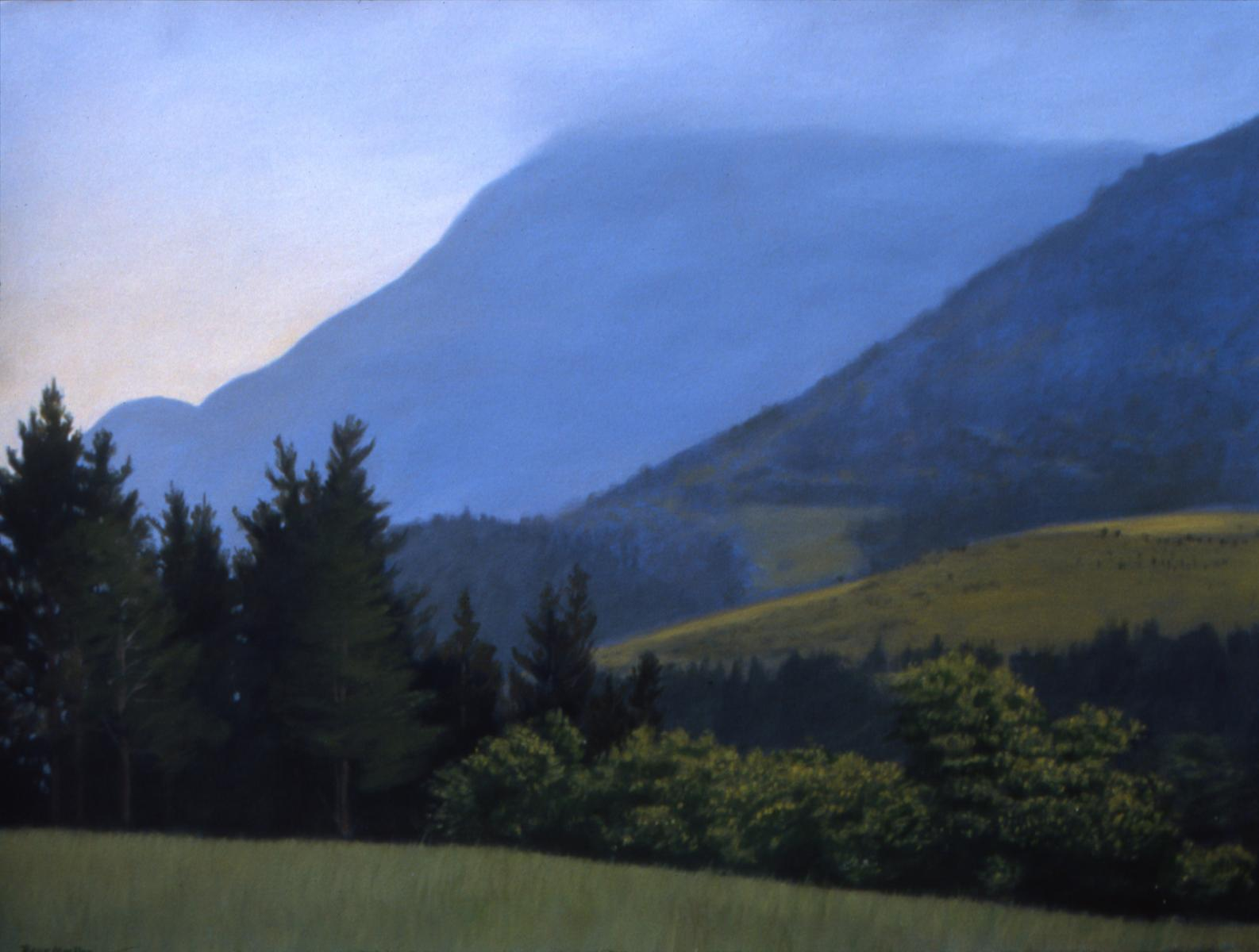 """Edge of the Pyrenees""   22"" X 30""   oil on paper"