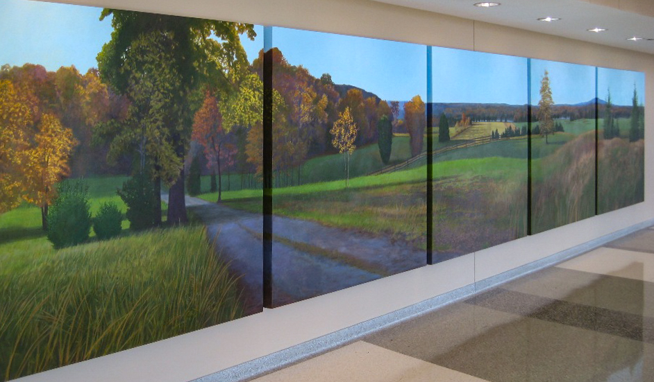 Commission for Sherman Hospital, Elgin, IL    6' X 30'    oil on canvas   left view