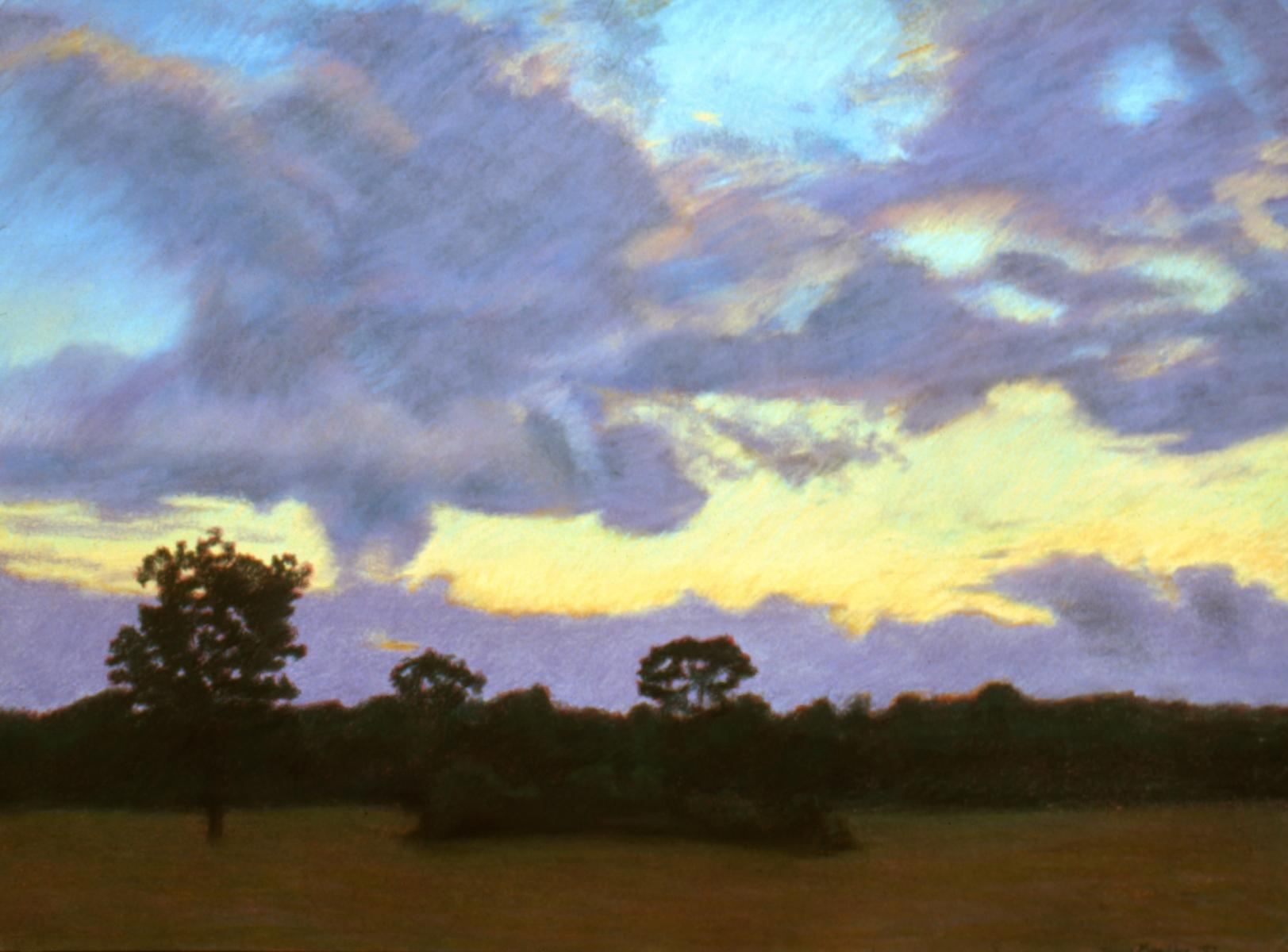 """Evening Clouds""    22"" X 30""   pastel on paper"
