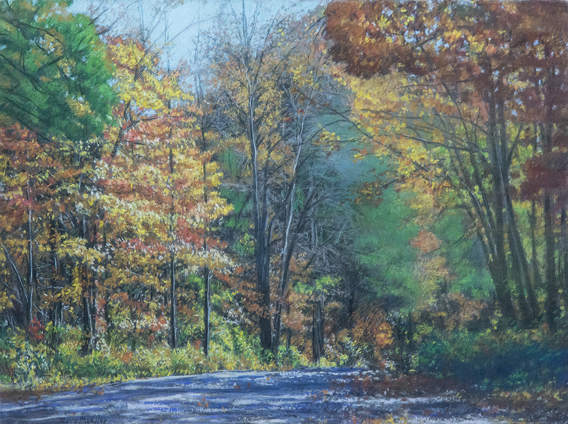 """Country Road. South Carolina # 2""   22"" X 30""   pastel on paper"