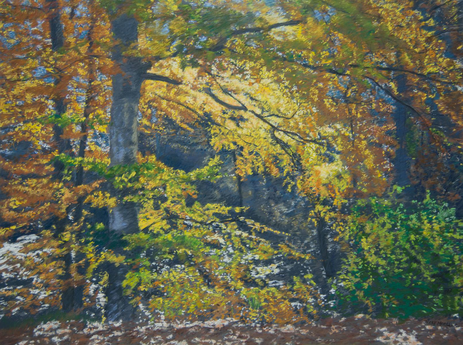 """Golden Trees""  pastel on panel  24"" X 32"""