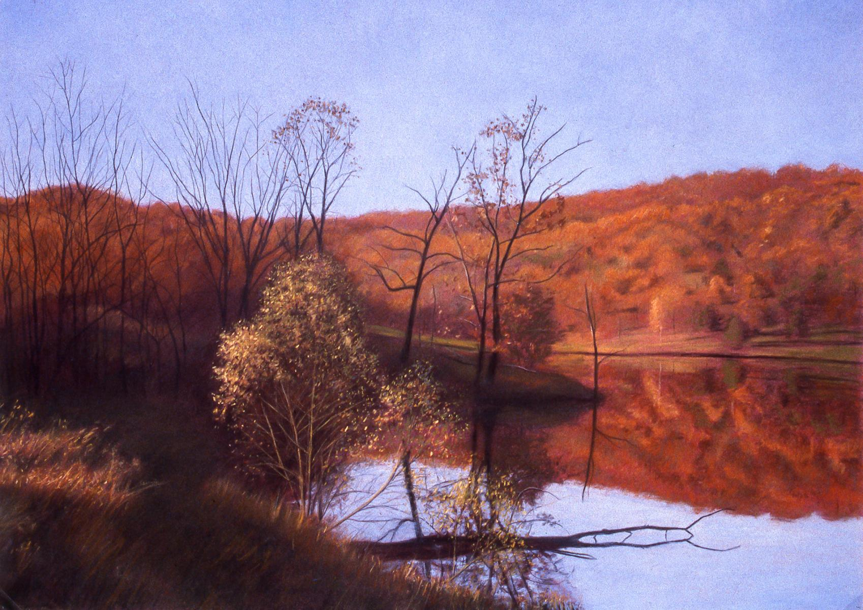 """Autumn Reflections""   22"" X 30""   pastel on paper"