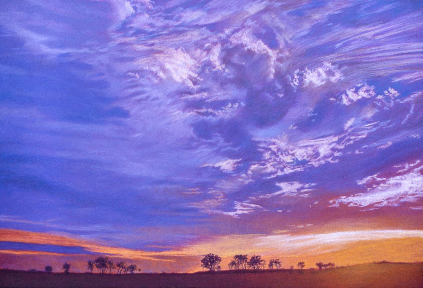 """Midwest Sunset""   30"" X 42""   pastel on paper"