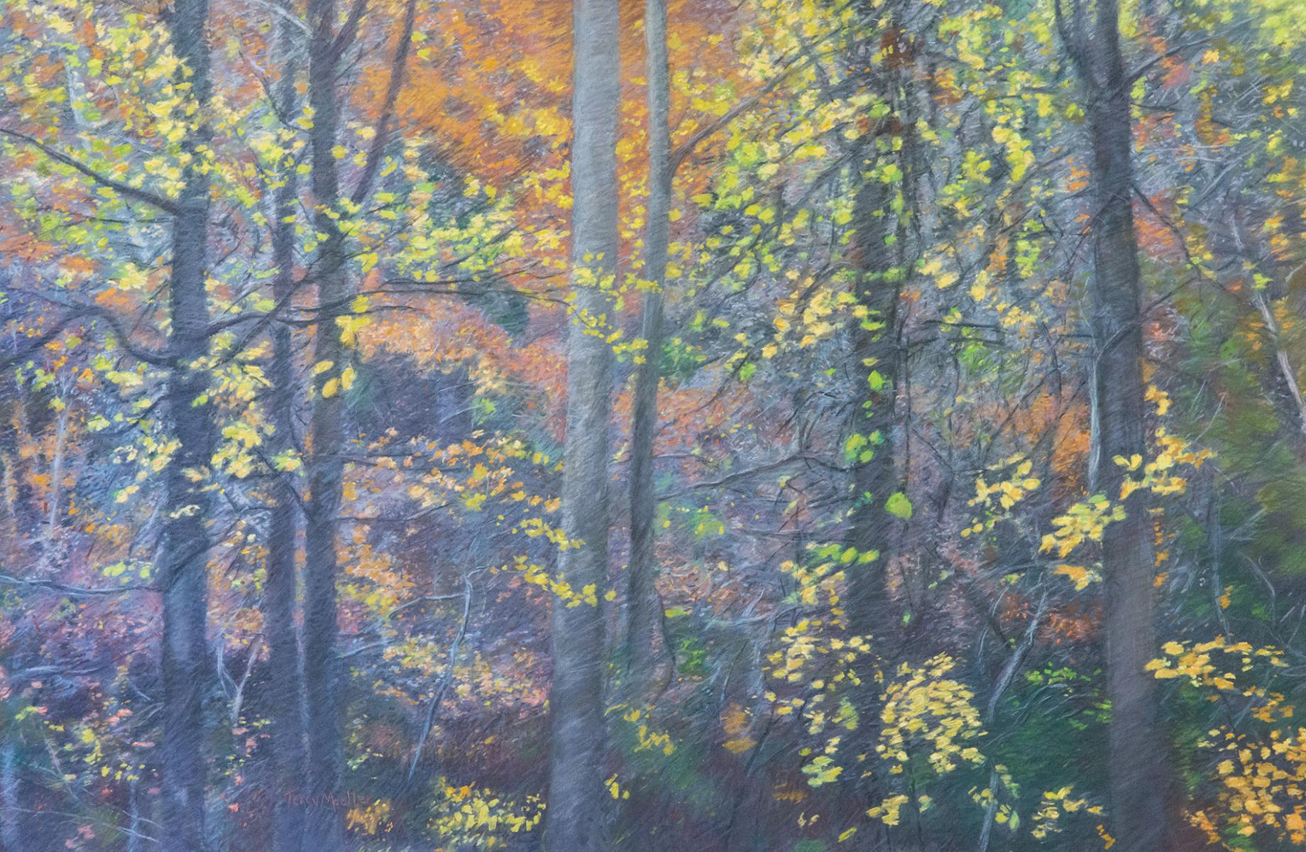 """Autumn Light #2  pastel on panel  24"" X 36"""