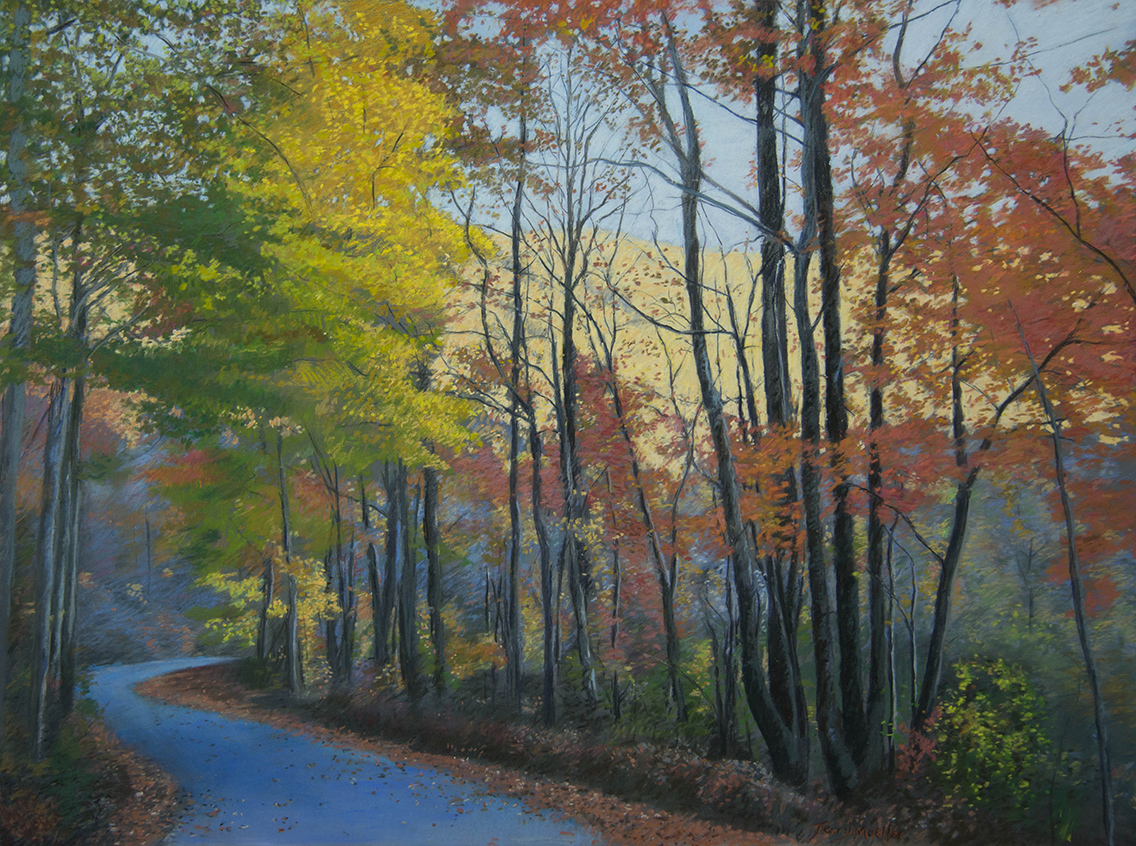 """Road to the Valley""   24"" X 34""   pastel on panel"